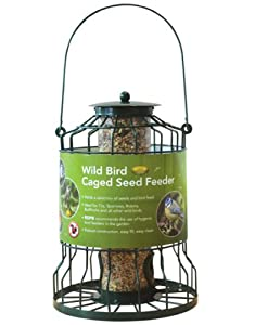 Squirrel Proof Hanging Caged Bird Seed Feeder Guard  from OV
