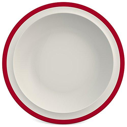 Ornamin assiette creuse Ø 22 cm bord rouge mélamine (modèle 505)