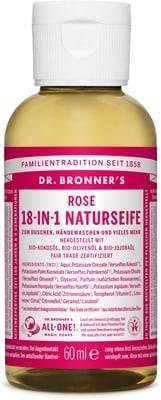 18 In 1 Hanf (DR. BRONNER'S - Vegan Rose 18 in 1 - Reinigung und Wellness für die Person und das Haus - mit Bio-Öl, Biologisch abbaubar, für alle Arten von Skin - 60 ml - Travel Size)