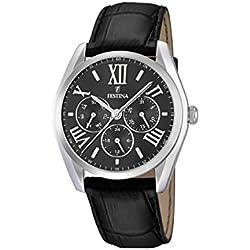 Festina F16752/2 - Reloj de pulsera hombre, piel, color negro