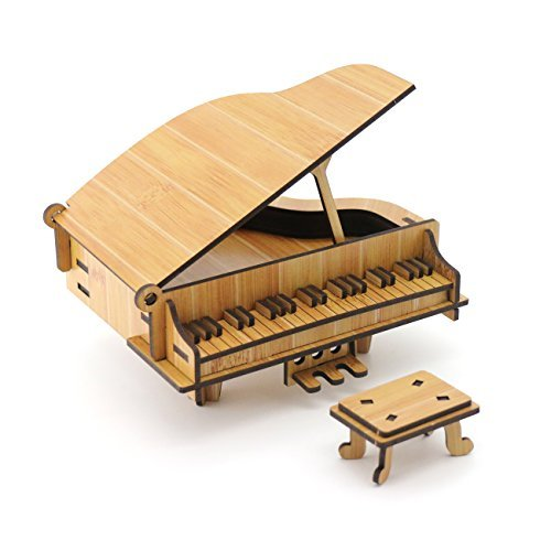 ZOSEN® 3D Wooden Puzzle - Piano - Educational Toys 3D Puzzle Gift (Bamboo)