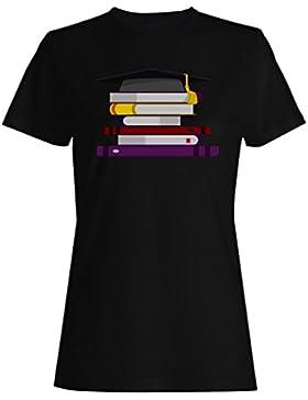 Nueva Graduación Con El Arte De Los Libros camiseta de las mujeres l669f