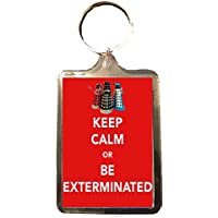 Dr Who Be Exterminated - Keep Calm Key Ring