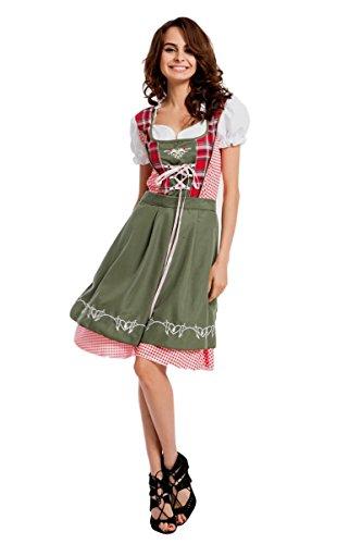 Ladies Heidi Oktoberfest Beer Maid Wench German Bavarian Fancy Dress Costume SIZES S-3XL ()