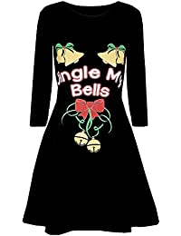 827d45693885a ZYUEER Femme Dress Christmas Robes Noel Imprimé Manches Longues, Robes  SoiréE Tunique Casual Automne Hiver