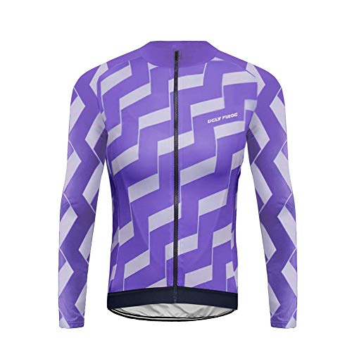Uglyfrog Bike Wear Maglia da Ciclismo Uomo Traspirante Bicicletta Magliette Manica Corsa a Maniche Lunghe Abbigliamento