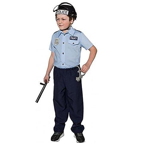Kinder Kostüm Polizist Uniform blau Fasching Karneval Polizei