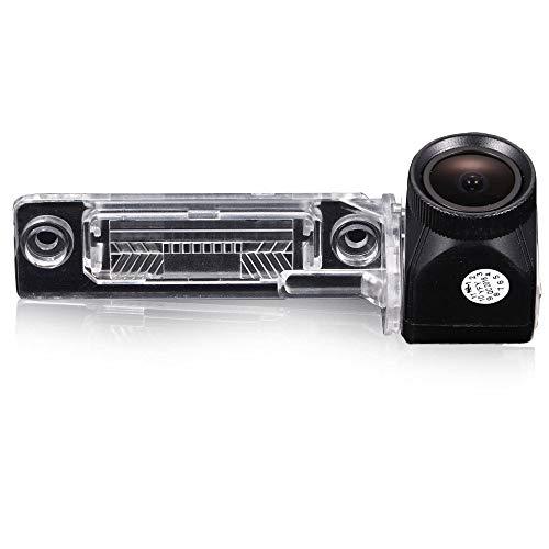 Dynavision Neues 20mm Objektiv HD Farbe Einparkhilfe Auto Rückfahrkamera, Super Weitwinkel Wasserdichte Nachtsicht Car Camera für VW Caddy B5 B6 Passat 3C 3B Jetta Sagitar Multivan T5 Golf Plus Polo