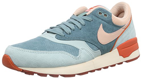 Nike Air Odyssey LTR, Sneakers basses homme Vert / Orange (Green Haze / Arctc Orng-Unv Orng)