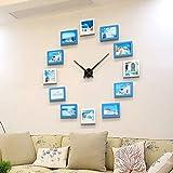 WOOLIY Stille Wanduhr/Wohnzimmer Wanduhr Dekorative Fotorahmen Kombination/Fotowand Moderne Dekorative Für Küche, Wohnzimmer/Schlafzimmer / Büro