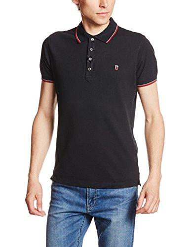 Pique V-ausschnitt Jersey (Diesel Herren Poloshirt 00MXZ Black (900), Large)