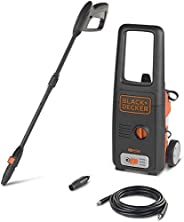 Black+Decker 1400W 110Bar Pressure Washer Cleaner for Home, Garden and Cars, Orange/Black - BXPW1400E-B5, 2 Ye