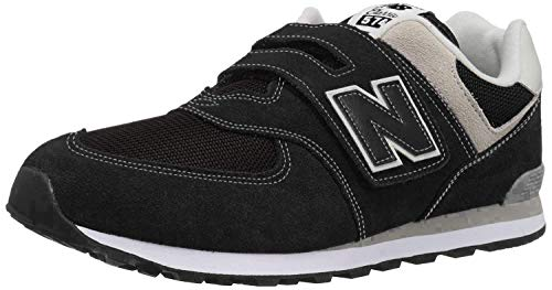 New Balance 574v2 Core Velcro, Zapatillas Unisex Niños, Negro Black/Grey Black/Grey, 26 EU