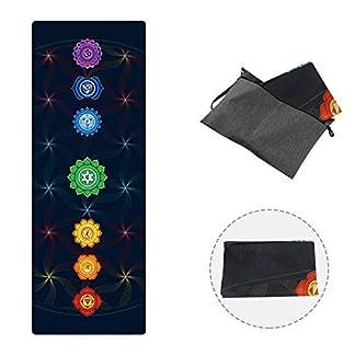 PIDO 2019 – Esterilla de Yoga de Viaje, diseño Estampado, de Goma, ecológica, Ligera, Antideslizante, para Yoga, Estudio y Viajes