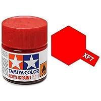 Tamiya 81707Acrylic Paint Mini Matte Red–Bottle of 10ml, XF-7