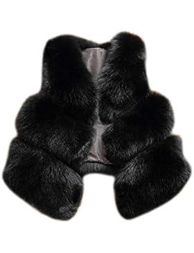 MIOIM® Mujer Chaqueta Jacket Chaqueta del Invierno Caliente de Piel Sintética de Fox Chaqueta de la Capa Corta...