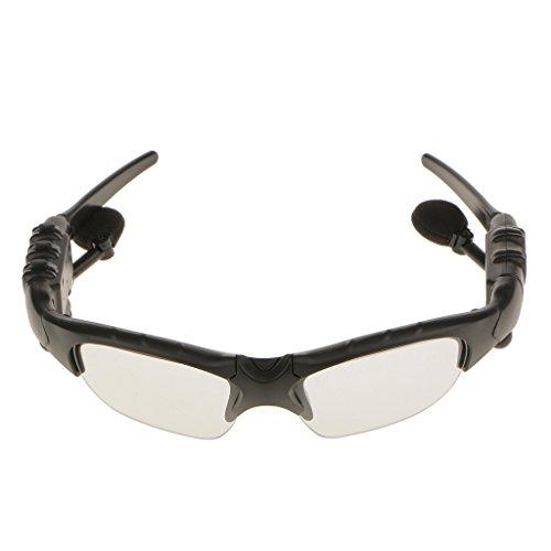 Preisvergleich Produktbild Drahtlose Bluetooth-Sonnenbrille Mit Freisprecheinrichtung Bluetooth 4.1 Headset mit Musik MP3 Handsfree Phone - Kaffee / Schwarz, 170 x 145 x 40mm