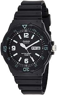 Casio Mens Quartz Watch, Analog Display and Resin Strap MRW-200H-1B