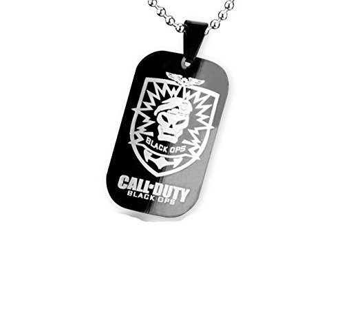 Titan Stahl Call of Duty-Anh?nger-Halskette Warfare 3 Dog Tag Halskette f¨¹r M?nner (Halskette Call Of Duty)
