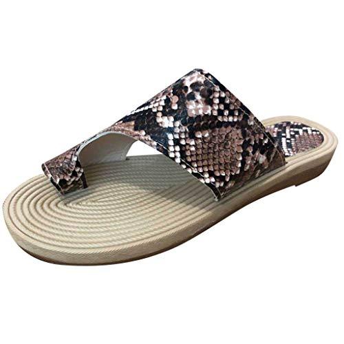 Epig Clip Toe Sandalen FüR Frauen Sommer Hanfseil Hausschuhe Flache Streifen Open Toe Strand Sandalen -