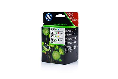 Preisvergleich Produktbild 4x HP C 2 P 43 AE , C2P43AE / 950XL/951XL , Nr 950 / Nr 951 Original XL Tinte Schwarz, Cyan, Magenta, Gelb