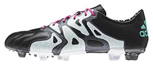 adidas X 15.2 Fg/Ag Leather, Chaussures de Football Compétition Homme Multicolore - Negro / Rosa / Blanco (Negbas / Rosimp / Menimp)