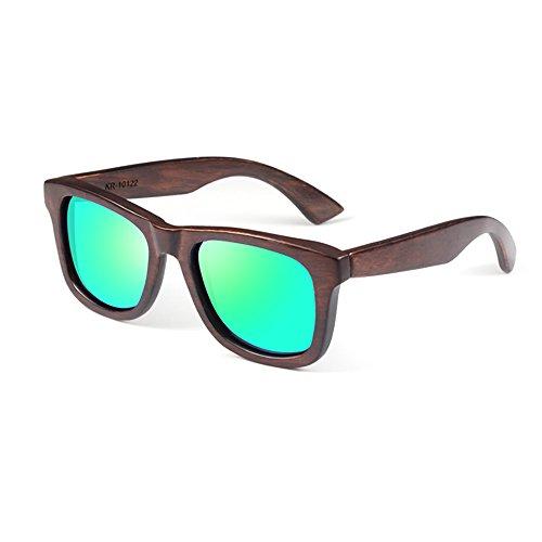 Moderne Himmel Sonnenbrille Junge Künstler Ebony Green Sonnenbrille UV400 Rated