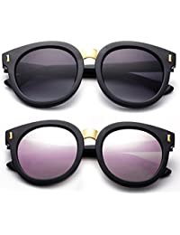 3c9c7a3af3f1 Newbee Fashion -Designer Inspired Kids Girls Teens Juniors Fashion  Sunglasses Trendy Round Oversized Sunglasses for