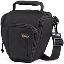 Lowepro Toploader Pro 45 AW - Funda para cámara (correa para hombro, cierre de cremallera), color negro