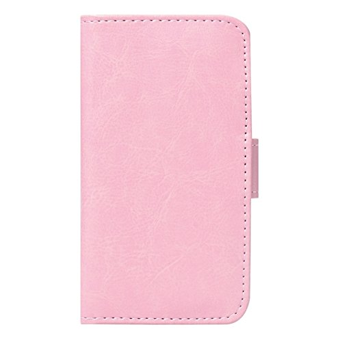 Phone case & Hülle Für IPhone 6 Plus / 6S Plus, Texture Wallet Style Ledertasche mit Kartensteckplätzen ( Color : Magenta ) Pink