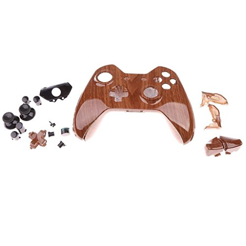 Tradico® Custom Hydro Dipped Wood Grain Housing Shell Kits w/Buttons for Xbox ONE