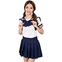 Precioso uniforme de uniforme escolar de Japón Uniforme Set Sailor Suit Disfraces de Cosplay