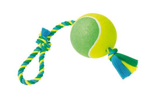 Nobby 67058 Spielseil mit Tennisball XXL Hundespielzeug
