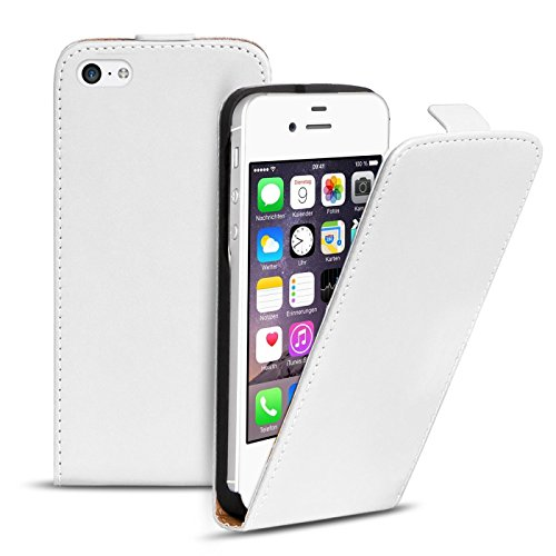 iPhone 4s PU Leder Flip Case Klapphülle Cover Hülle in Farbe: Grün Weiss