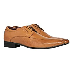 BATA Mens Accent Tan Leather Formal Shoes - 9 UK/India (43 EU)(8243859)