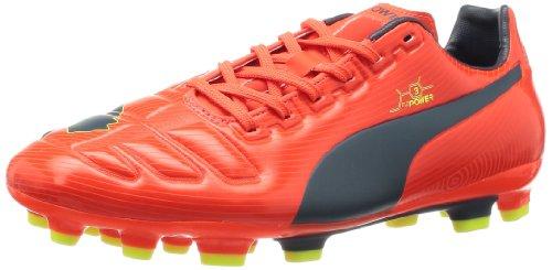 Puma evoPOWER 3 AG Herren Fußballschuhe Rot (fluro peach-ombre blue-fluro yellow 01)