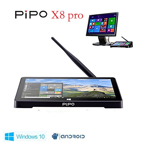 PIPO X8 pro Mini PC Windows10 &Android5.1 Dual Boot Intel Atomz8350 Quad Core Mini Computer Box 7'Tablet HDMI 2G/32G 802.11b/g/n LAN BT4.0 (x8 pro)
