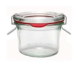 Weck Gläser 12er-Set 80 ml Einmachgläser Sturzgläser Weckgläser / inkl Einkochringe Klammern Glasdeckel 5080903