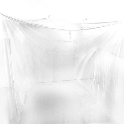White Mosquito Net Bed Canopy Polyester Insect Protection Box Net Travel Double Bed Rectangula