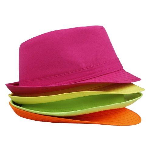 Smile YKK Chapeau Panama Coloré Bonnet Soleil Outdoor Femme Brim Floppy Jaune
