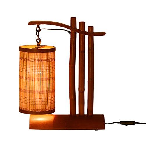 Estilo del sudeste asiático Lámpara de Mesa de bambú Creativa Japonesa Moderna Sala de Estar Dormitorio Personalidad Retro Lámpara de Madera Junto a la Cama