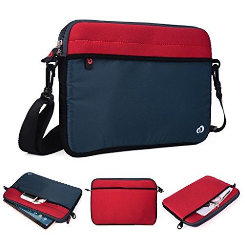 Kroo Tablet/Laptop Hülle Sleeve Case mit Schultergurt für Allview Viva H1001LTE rot rot