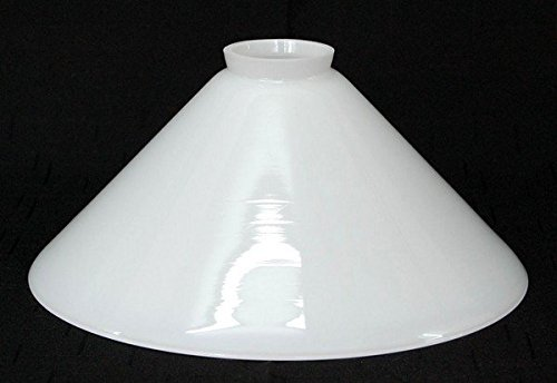 LMS Leuchten Beleuchtungsglas C-16 Opal-Weiss H 11 cm/Ø 25 cm Lampenschirm Glas Jugendstil...