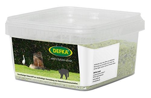 DEFKA 1,0 kg Zuverlässiger Naturstoff zur nachhaltigen Vermeidung von Katzenhinterlassenschaften - Katzenabwehr - Katzenschreck