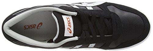 Asics Aaron, Sneakers Basses Mixte adulte Noir (Black/Soft Grey 9010)