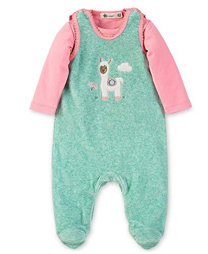 Sterntaler Baby-Mädchen Barboteuse Lotte Formender Body, Türkis Mel. 455, 3-6 Monate (Herstellergröße: 62)