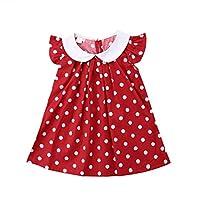 Girls Dresses, Tensay Newborn Baby Girls Polka Dot Fly Sleeve Princess Patry Birthday Sundress Clothes