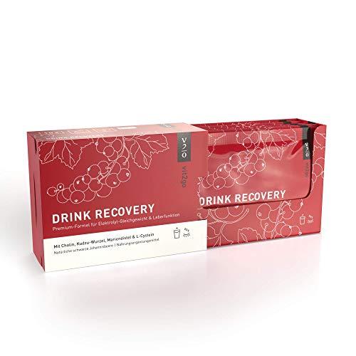 Vit2go DRINK RECOVERY (10 Sachets) - Elektrolyt Pulver zum Trinken, Vitamin Pulver Getränk für die Nacht nach der Party, erfrischender Geschmack (schwarze Johannisbeere)