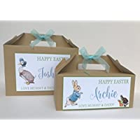 Personalised Childrens Easter Egg Gift Box Egg Hunt Party Treat Box Peter Rabbit