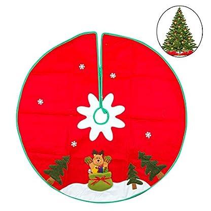 Zoylink Falda Del árbol De Navidad Fieltro De Dibujos Animados Decoración Del árbol De Navidad Para La Decoración Del Hogar